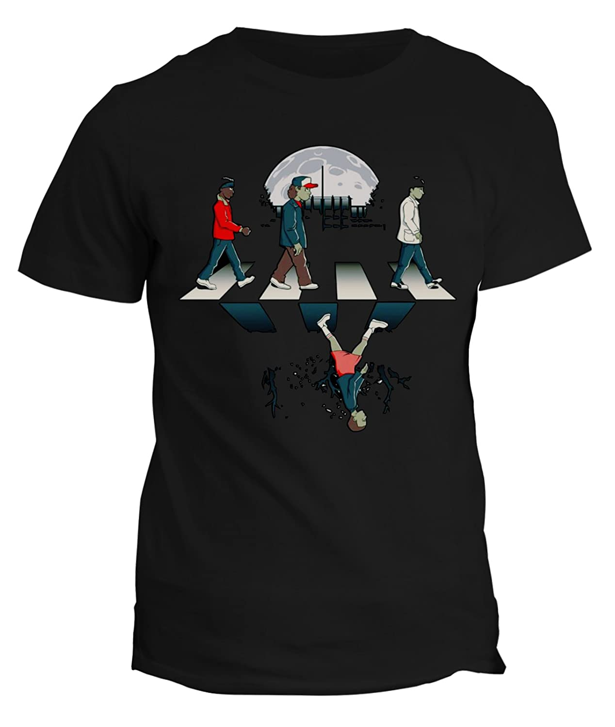 Tshirt Stranger Things - Abbey - walking - Upside down road - Stranger Things 2 - serie tv - in cotone fashwork fshST23