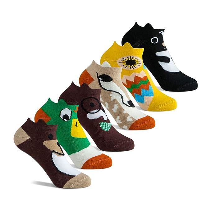 Wiggletoes Little Kids' Soft Cotton Low Cut Animal Critter Socks Size 5.5-8.5