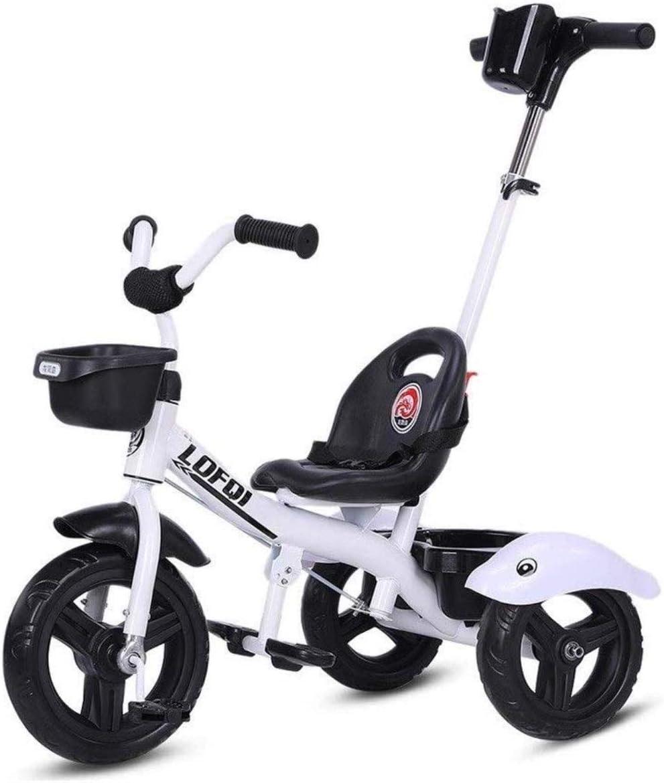 Archivadores Trikes triciclo del cochecito empuje 2-en-1 for padres de los niños triciclo for niños, niño del niño de bicicletas Con marco de acero de altura ajustable retro empuje Ride Artículos de O