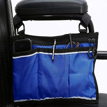 Bolsa para silla de ruedas - Bolsa para silla de ruedas Bolsa de almacenamiento lateral Canasta