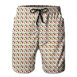 Vvw4 Cartoon Boots Pattern Quick Dry Swim Board Beach Shorts Surfing Running Swimming Watershorts With Poket For Men
