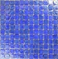 "Light Blue Textured Iridescent Glass Tile Blend 1"" x 1"" from Ceramic & Glass Tile Store"