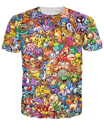 Electric Crown 8-Bit Pokemon Collage T-Shirt Photo - Pokemon Gaming