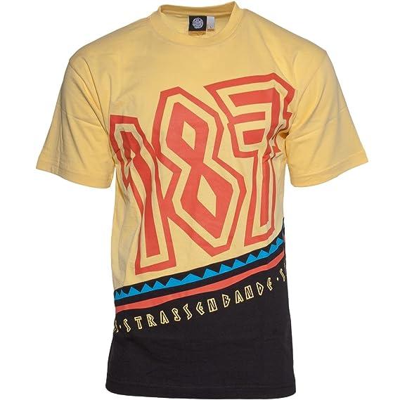 86262ed5cb0 187 Strassenbande Original Maxwell 187 Tribe T-Shirt Schwarz Gelb   Amazon.de  Bekleidung