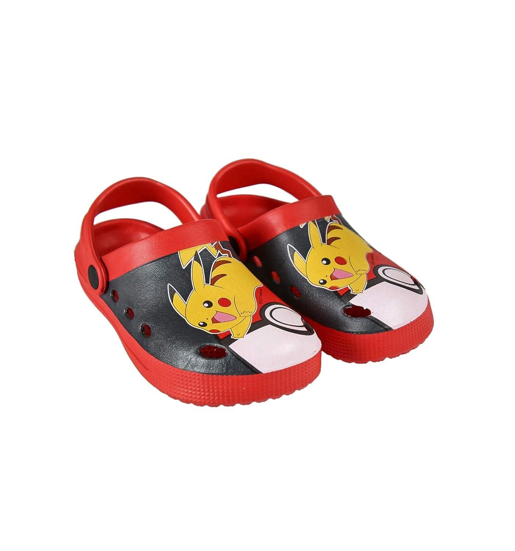 Les Pokemon Sabots Crocs Enfant garçon Rouge//Gris foncé du 26 au 33