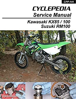 cpp 141 p kawasaki kx85 kx100 suzuki rm100 cyclepedia printed rh amazon com