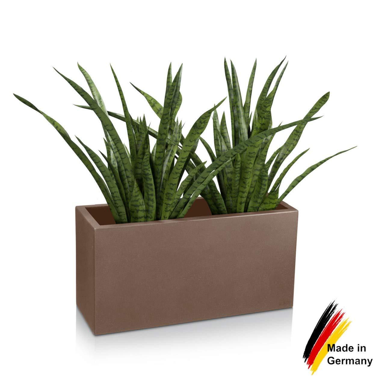 Fioriera VISIO 40 in resina, vaso da fiori - 80x30x40 cm - colore  cappuccino