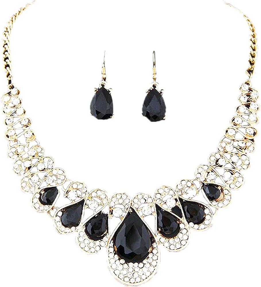 unknow El Collar de Las Mujeres, Accesorios de Vestir determinados del Pendiente del Collar de la Piedra Preciosa del Diamante del Destello del Metal