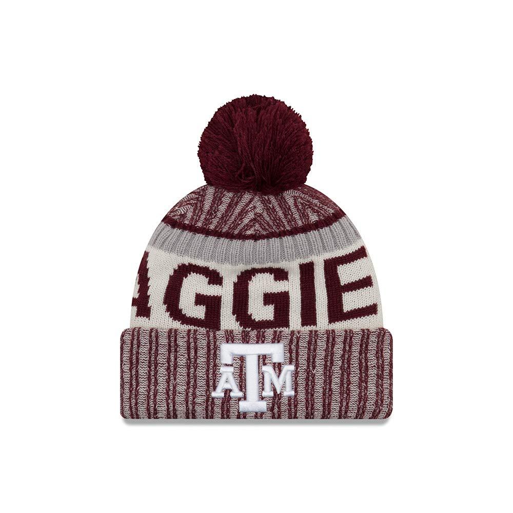 super popular 989bb d5ad2 Amazon.com   New Era Texas A M Aggies Onfield Sport Pom Knit Beanie Hat Cap    Sports   Outdoors
