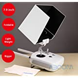 Aboom Phantom 4 Remote Controller Monitor Hood Sunshade Sun Hood and Cleaning Cloth for Tablets