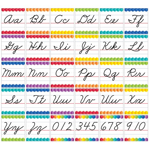 Creative Teaching Press Painted Palette Cursive Handwriting Alphabet Bulletin Board (7056) - Cursive Alphabet Chart