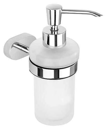 Nicol 7131900 Vesta Soporte de Pared con dispensador de jabón, Brillante, fácil fijación Mediante