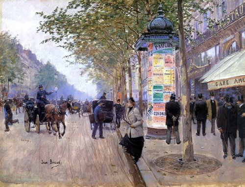 Jean-Georges Beraud Hailing a Cab outside the Care Americain - 18