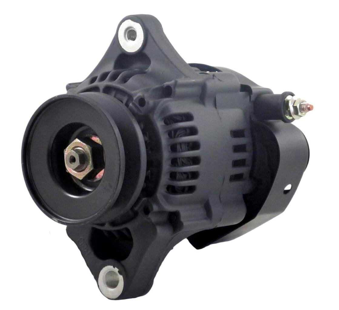 NEW CHEVY MINI ALTERNATOR FITS DENSO STREET ROD RACE 93MM BLACK 60AMP 1 WIRE 8162