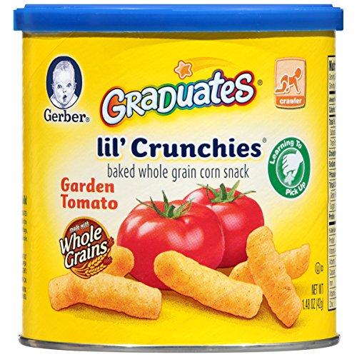 Gerber Graduates Lil' Crunchies, Garden Tomato, 1.48 Ounce