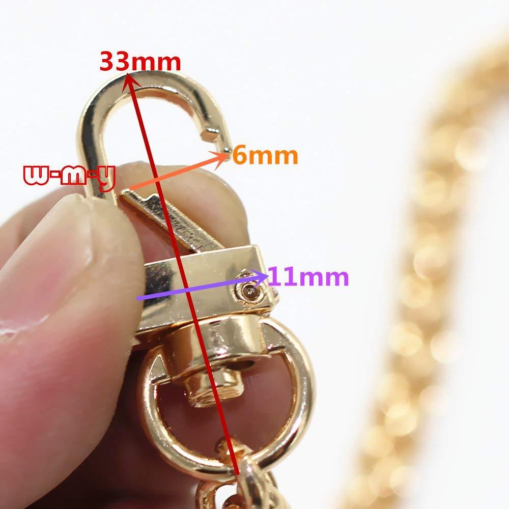 Gold MW 8 DIY Iron Lantern Chain DIY Iron Lantern Chain Strap Handbag Chains Accessories Purse Straps Wrist Strap Wrist Chain with 1pcs Metal Buckles