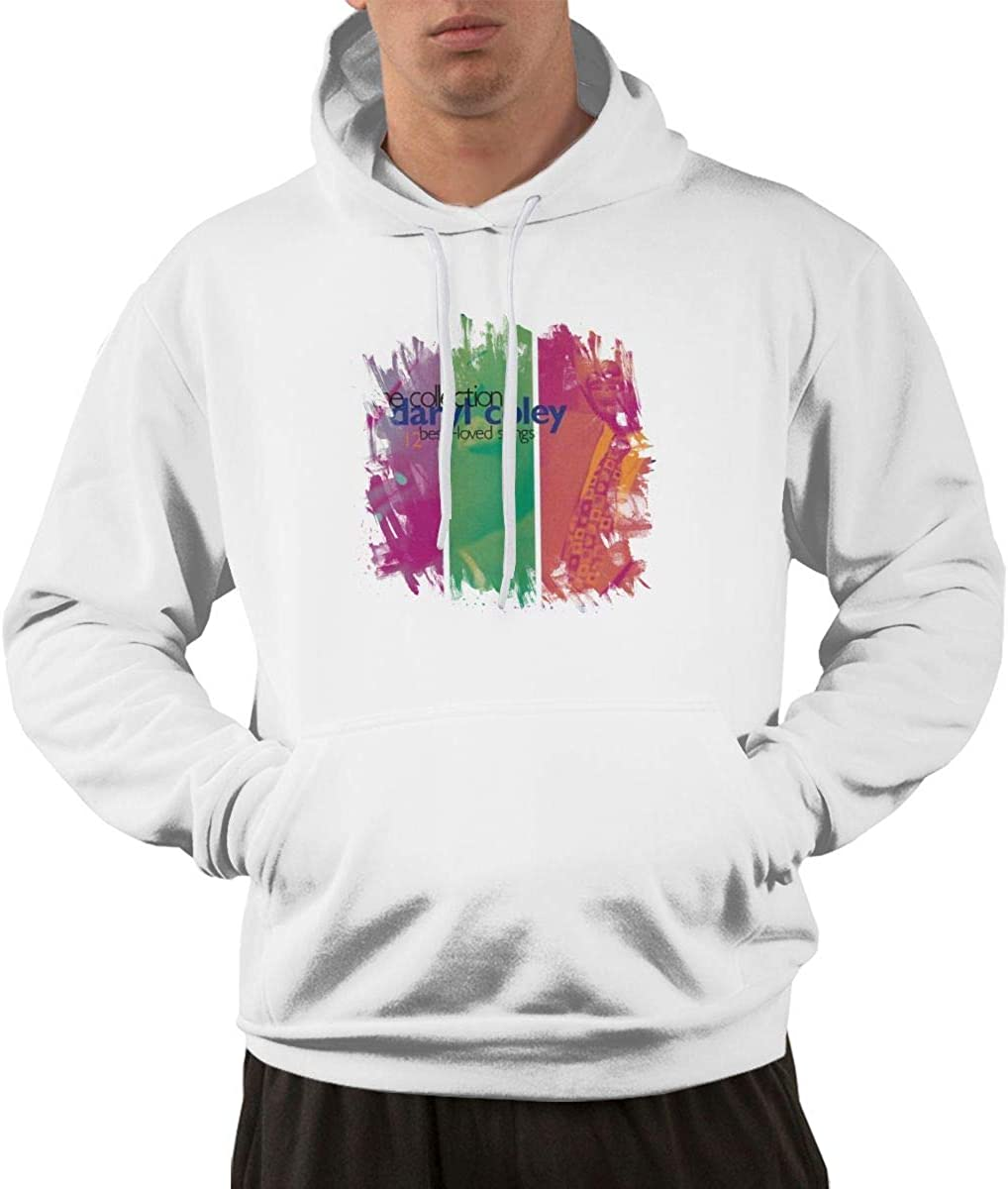 Dary Cole#Th Collectio- 12 BES Love Song Men's Hooded Pocket Sweater White