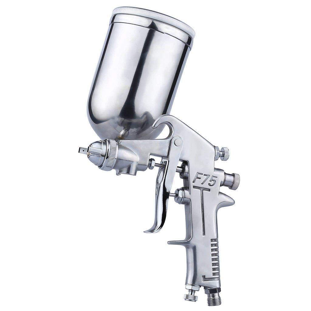 Auarita F-75G Pistolet de Pulvérisation 1.5mm Gravité Air Spray Gun Pistolet de Peinture Outil de Peintre avec 400cc Godet Argenté Buse en Cuivre product image