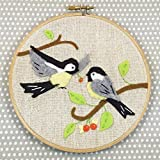 Heidi Boyd | Chickadees Whimsy Stitches Hoop Kit| Create These Adorable Chickadees with This Easy to Sew Appliques and Embroidery Kit