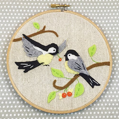 Heidi Boyd | Chickadees Whimsy Stitches Hoop Kit| Create These Adorable Chickadees with This Easy to Sew Appliques and Embroidery Kit by Boyd, Heidi