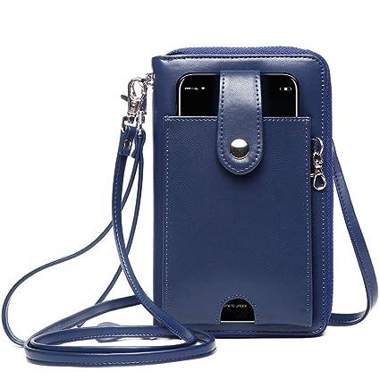 Faivykyd Mujeres Monedero RFID Bloqueo de protección Bolsos de Mujer, Bolso Señora Hombro con el bolsillo del teléfono celular Power Bank bolso ...