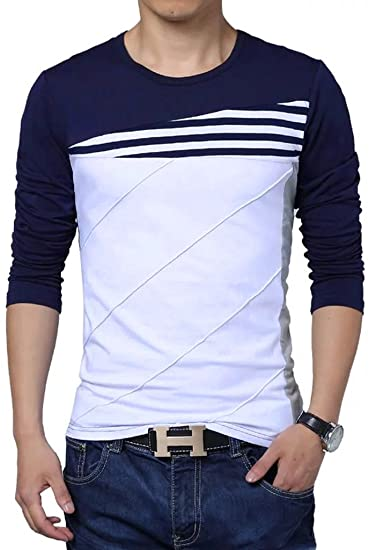 Seven Rocks Stylish Striped Cotton Panelled T-shirt  Amazon.in  Clothing    Accessories 3673a83f12