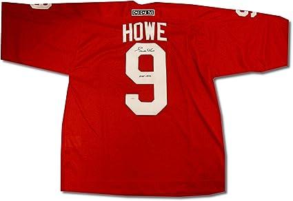 ebd9f3da1 Gordie Howe Hand Signed Autographed Vintage Detroit Red Wings Jersey ...