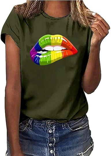 Camiseta Mujer Essentials 2-pack Short-sleeve V-neck Patterned T-shirt