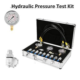 Kit de Test de Pression Hydraulique Excavatrice avec de Point d/'Essai Manomètre