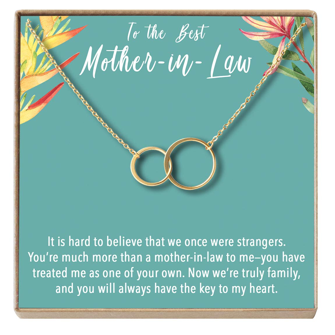 to My Mother-in-Law 2 Asymmetrical Circles Dear Ava Mother-in-Law Gift Necklace Mother of My Husband