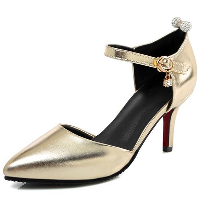 Onewus Modische Sandalen Damen, Schwarz (Gold), 44 EU   27 cm  Amazon.de   Schuhe   Handtaschen c9511cf52f