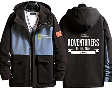 ジャケットメンズとレディースウインドブレーカー Jacket ナショナルジオグラフィックチャンネルディスカバリーチャンネルフード付きカジュアルウインドブレーカーセーター長袖服(シャツなし)