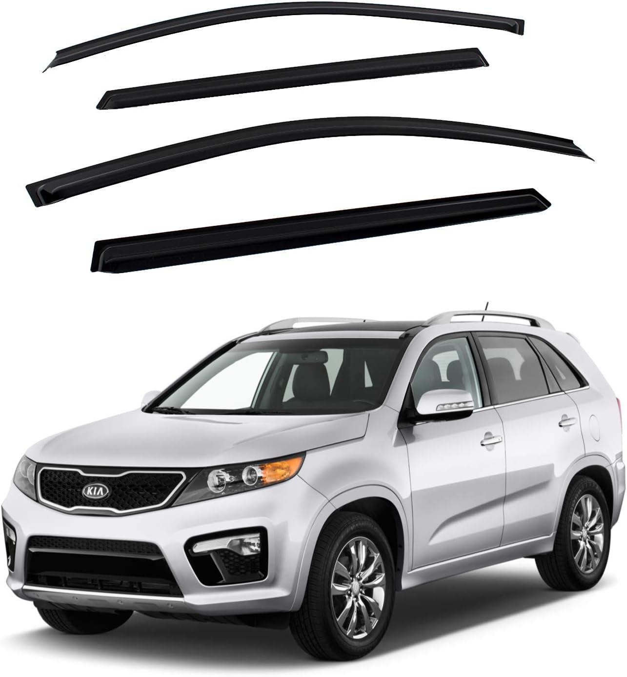 4PCS For 2011-2015 Kia Sorento Sun//Rain Guard Vent Shade Window Visors Deflector
