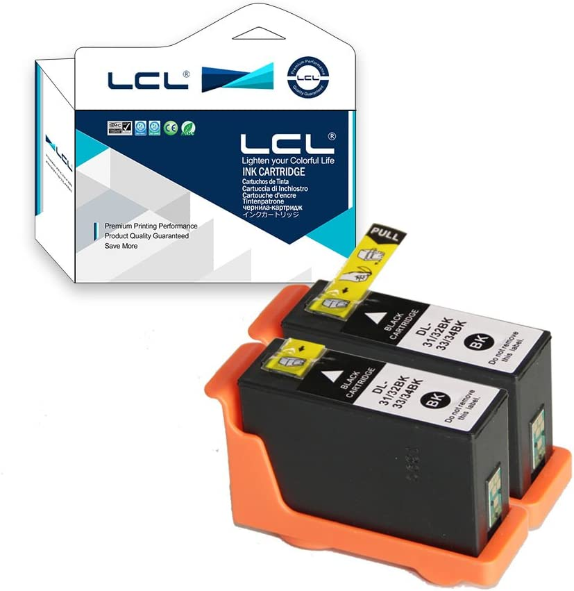 LCL Cartucho de Tinta Compatible 31 32 33 34 (2 Negro) Reemplazo ...