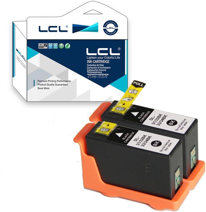 LCL Cartucho de Tinta Compatible 31 32 33 34 (2 Negro) Reemplazo para DELL V525w DELL V725w: Amazon.es: Electrónica