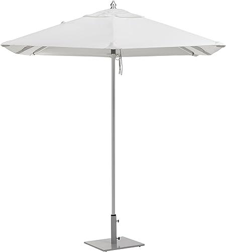 Oxford Garden Sunbrella Square Aluminum Umbrella, 6.5-Feet, Natural