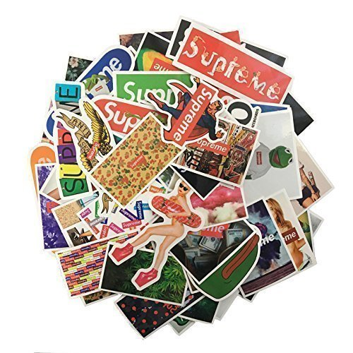 60Pcs/Lot Supreme Stickers For Car Waterproof Laptop Motorcycle Skateboard Luggage Decal Toy Sticker by S.S Shop - Laptop Shop