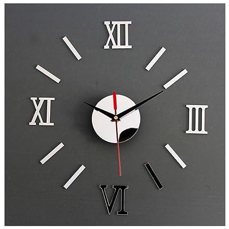 reloj de pared 3d con números adhesivos diy bricolaje moderno decoración  adorno para hogar y oficina e3225c835d0a