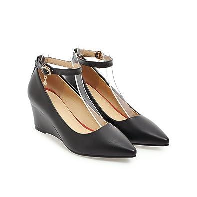 timeless design d4c77 6b845 CXQ-Heels QIN&X Frauen Keilabsatz Schuhe Flache Mund Schuhe ...