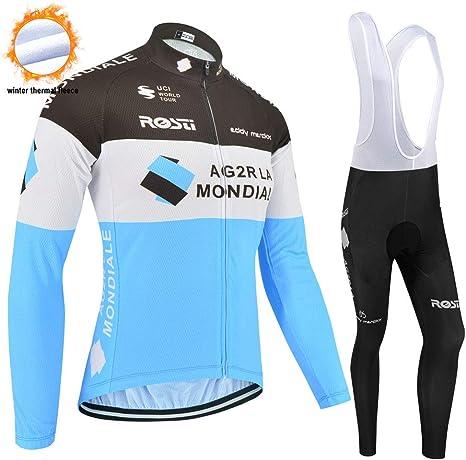 SUHINFE Jersey térmico de Ciclismo Polar para Hombres, Pantalones ...