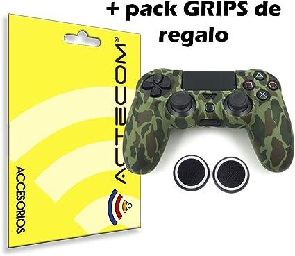 ACTECOM® Funda Carcasa + Grip Silicona Camuflaje Mando Sony PS4 Playstation 4 Camuflaje Verde: Amazon.es: Electrónica