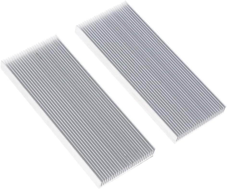 2X IC Cooling Fan Heatsink Accessory Cooler Fin for CPU RAM Video Card Heat Dissipation Thermal Kit 100x41x8mm