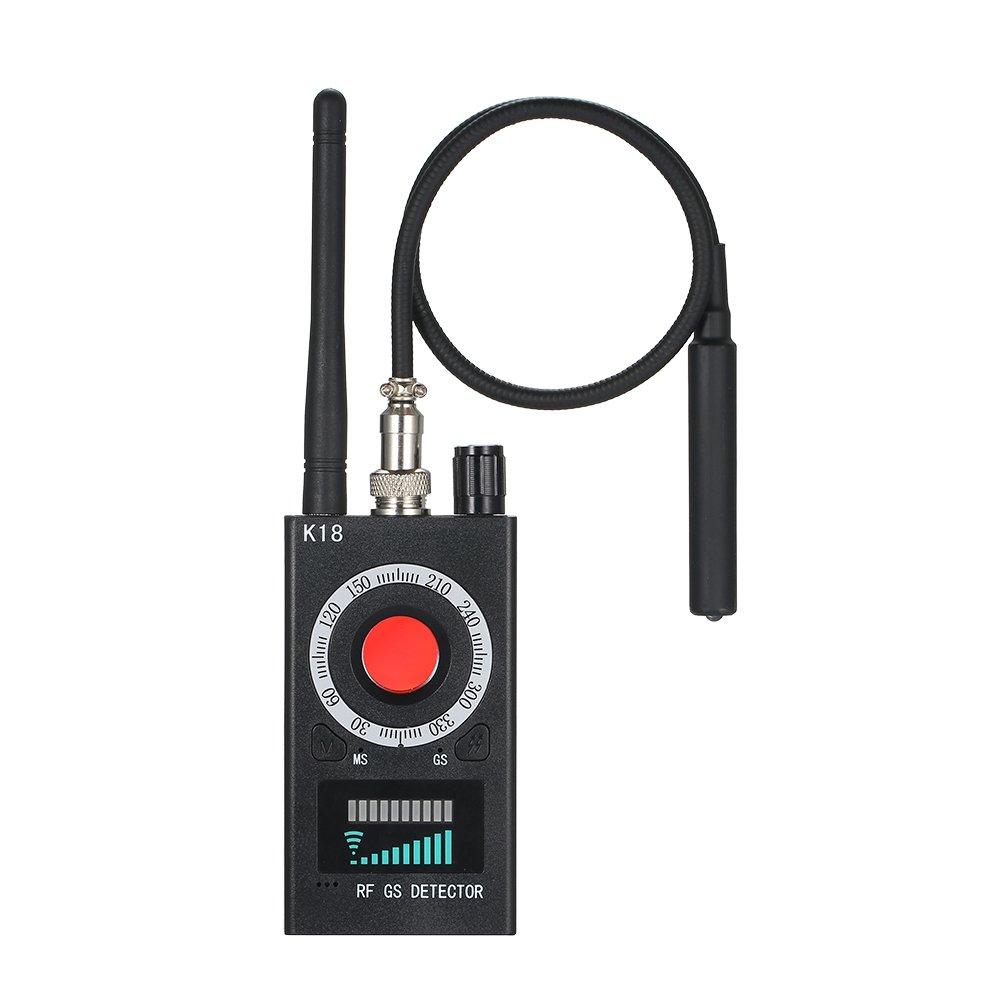 Anti Spy RF Detector Wireless Bug Detector Signal for Hidden Camera Laser Lens GSM Listening Device Finder Radar Radio Scanner Wireless Signal Alarm biznlink KK18