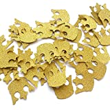 Glitter Gold Royal Prince King Crown Confetti - 2 Packs - (40ct each pack), Baby Shower Decorations, Gold Crown Confetti, Royal Prince Confetti,