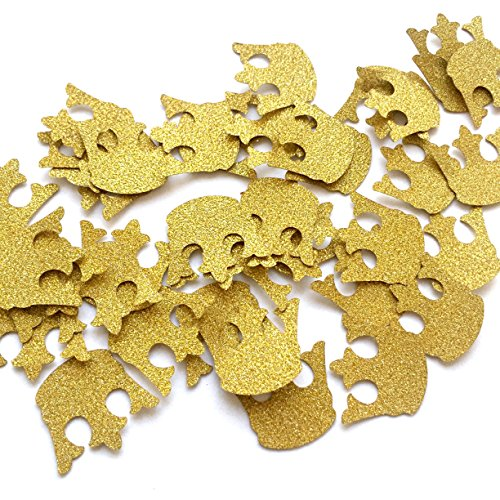 Glitter Gold Royal Prince King Crown Confetti - 2 Packs - (40ct each pack), Baby Shower Decorations, Gold Crown Confetti, Royal Prince (King Decorations)