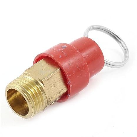1/4bsp de válvula de seguridad ayuda a aliviar las tensiones rojo para compresor de