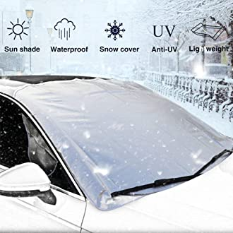 d54f327b #1 EEPIRR Car Snow Cover, Car Windshield Cover for Winter Snow Removal -  Windshield Snow Ice