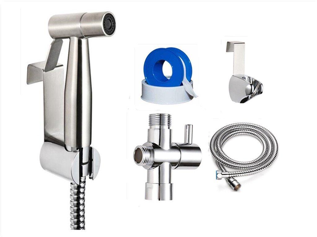 Perfect Hand Held Diaper Sprayer - bathroom toilet stainless steel bidet sprayer - All Included Kit