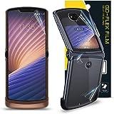 [1SET4PCS] GOBUKEE Motorola Moto Razr 5G 2020 Screen Protector (with HINGE Protector) Easy to Install Go-Flex TPU Film Scratc