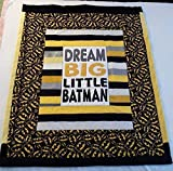 Baby Quilts - Handmade Baby Quilts - Custom Baby Blanket - Throw Blanket - Wheelchair Lap Blanket - Pet Blanket (Batman)